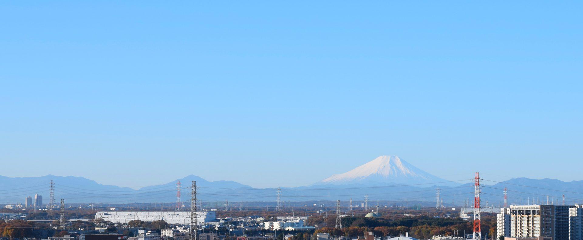 富士山が見える事務所から